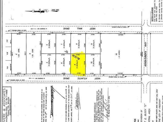 土地,用地 为 销售 在 West Atlantic Drive Freeport, 大巴哈马/自由港 巴哈马