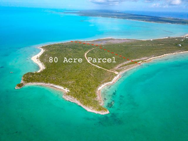 Land for Sale at 80 acres with Beach, Indian Hole Point Other Long Island, Long Island Bahamas